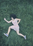 Girl running outdoors Stock Photography