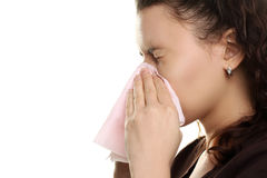 Girl with the runny nose Stock Photography