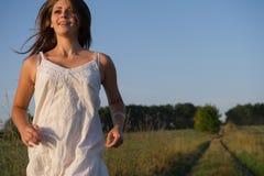 Girl runs Royalty Free Stock Photography