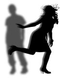 girl runs away Royalty Free Stock Photos