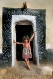 Girl in rural India Stock Photography