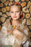 Girl in russian costume Stock Photography