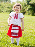 Girl in russian folk clothes Royalty Free Stock Images