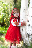 Girl in Russian national dress Royalty Free Stock Photography