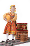 Girl In Russian Traditional Clothing Stock Image