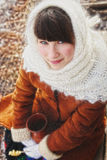 Girl in a Russian village. Stock Images