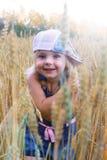 Girl in rye Stock Images