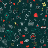 Girl's accessories pattern Stock Images