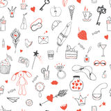 Girl's accessories pattern Royalty Free Stock Photos
