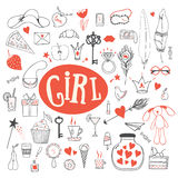 Girl's accessories Royalty Free Stock Images