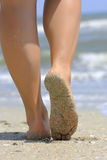 Girl's barefoot legs Royalty Free Stock Images