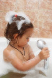 Girl's bathing Royalty Free Stock Images