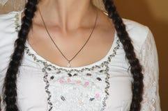 Girl's braid Stock Photo