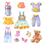 Girl's clothes. Stock Images