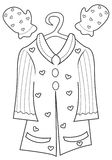 Girl's clothing coloring page Stock Image