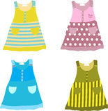 Girl's Clothing. Set of Girl's Clothing. Vector illustration Stock Photos