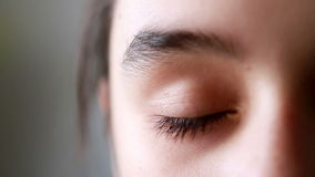 Girl's eye, close up stock footage