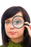 Girl's eye magnified Royalty Free Stock Photos