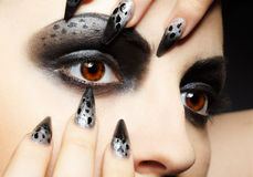 Girl's eye-zone bodyart royalty free stock photo