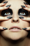 Girl's eye-zone bodyart Royalty Free Stock Image