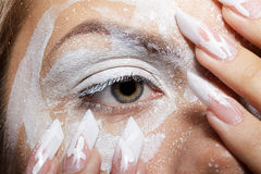 Girl's eye-zone bodyart Royalty Free Stock Images