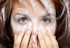 Girl's eye-zone bodyart Royalty Free Stock Photo