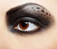 Girl's eye-zone bodyart Stock Photography