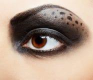 Girl's eye-zone bodyart Stock Photography