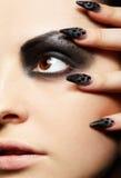 Girl's eye-zone bodyart Royalty Free Stock Images