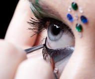 Girl's eye zone bodyart Royalty Free Stock Photos