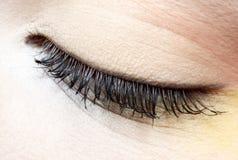 Girl's eye zone make-up. Close-up of girl's eye zone make-up Royalty Free Stock Photography