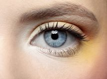 Girl's eye zone make-up Stock Images