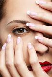 Girl's eye-zone make-up Royalty Free Stock Images