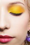 Girl's eye-zone make-up. Closeup portrait of beautiful girl's eye-zone make-up Royalty Free Stock Photo