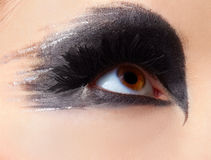 Girl's eye-zone make-up Stock Photos