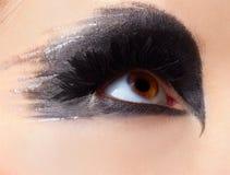 Girl's eye-zone make-up Stock Photos