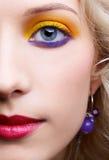 Girl's eye-zone make-up Royalty Free Stock Photo