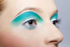 Girl's eye-zone makeup Royalty Free Stock Photo