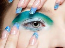 Girl's eye-zone makeup Royalty Free Stock Photos