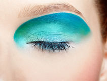 Girl's eye-zone makeup Stock Images
