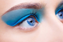 Girl's eye-zone makeup Royalty Free Stock Photography