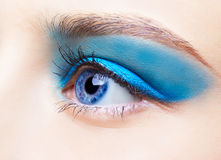 Girl's eye-zone makeup Stock Photos