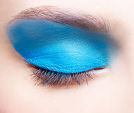 Girl's eye-zone makeup Stock Photography