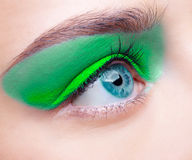 Girl's eye-zone makeup Stock Image