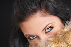 Girl's eyes Royalty Free Stock Image