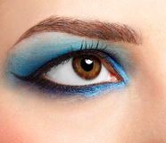 Girl's eyezone make up Royalty Free Stock Photo