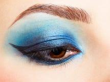 Girl's eyezone make up Stock Photo