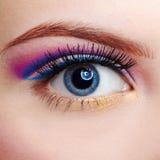 Girl's eyezone make up Stock Photography