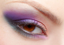 Girl's eyezone makeup Royalty Free Stock Images