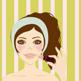 Girl's Face. This graphic is Makeup Girl Stock Image